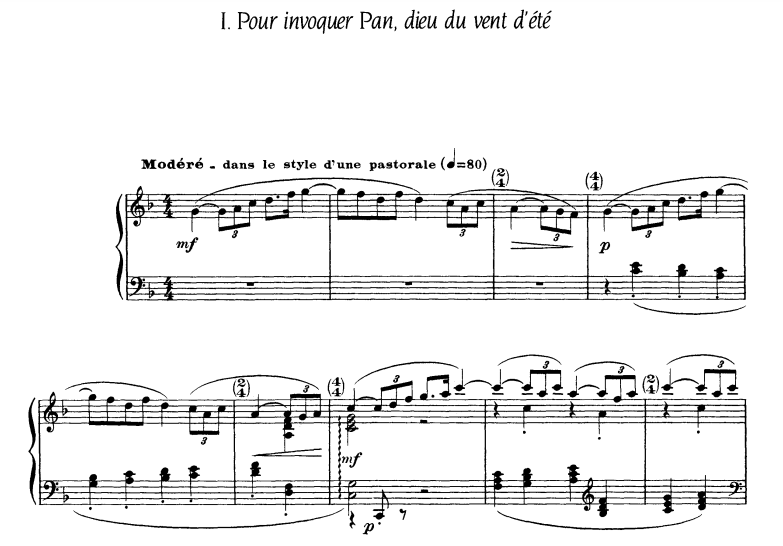 Debussy – Six epigraphes antiques Piano Sheet Music