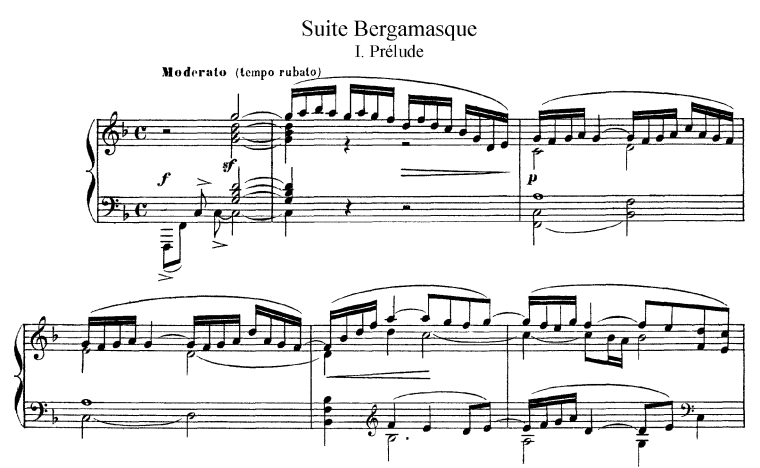 Debussy – Suite Bergamasque Piano Sheet Music