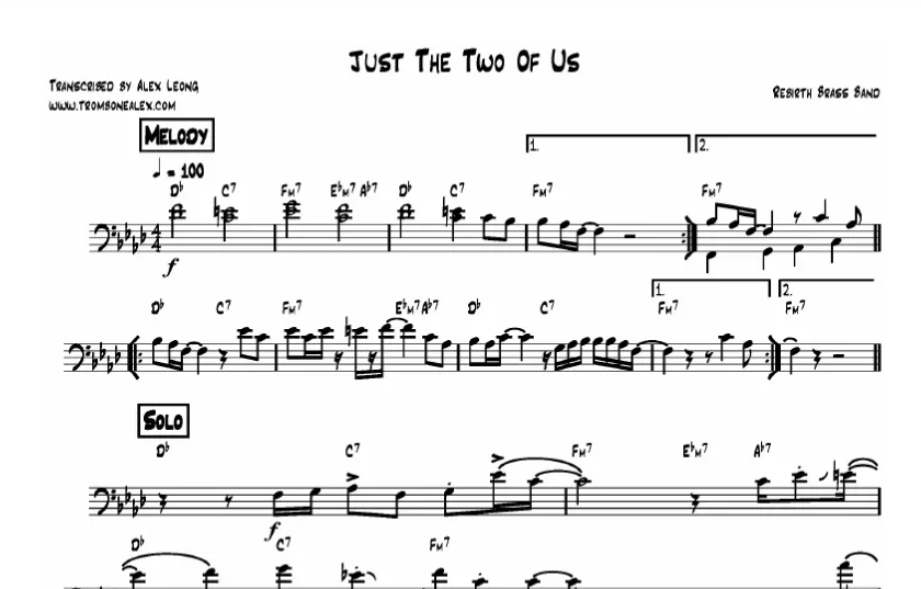 Bill Withers – Just The Two Of Us Piano Sheet Music